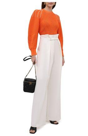 Женский пуловер из хлопка и вискозы CHLOÉ оранжевого цвета, арт. CHC21AMP20620   Фото 2