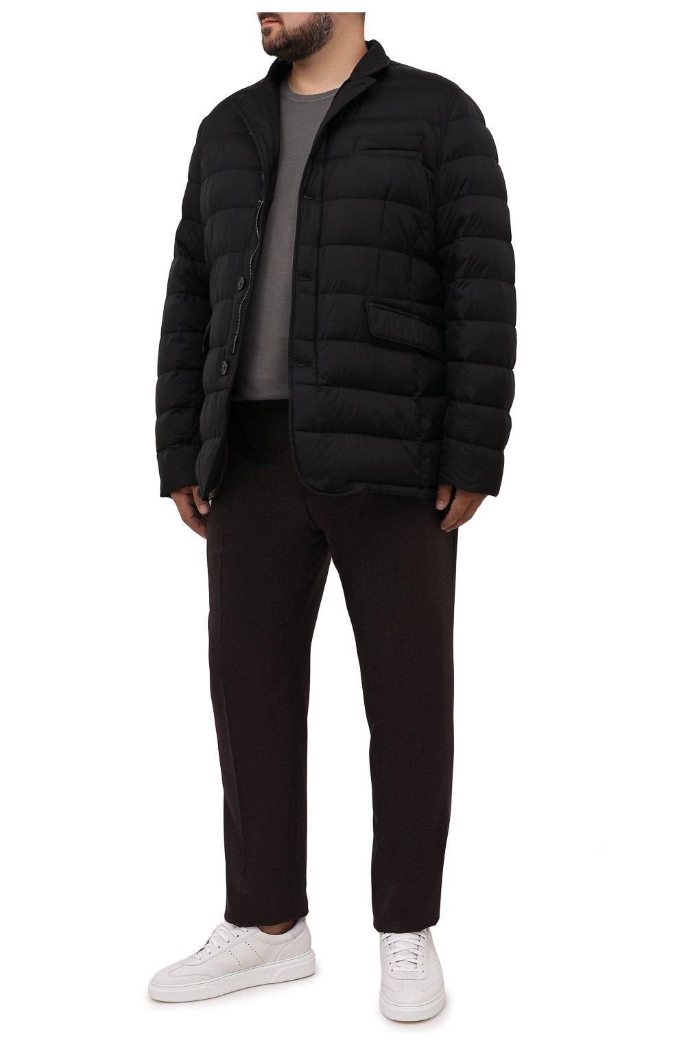 Мужская пуховая куртка zayn-op MOORER черного цвета, арт. ZAYN-0P/M0UGI100307-TEPA017/60-68   Фото 2 (Кросс-КТ: Куртка, Пуховик; Мужское Кросс-КТ: пуховик-короткий; Рукава: Длинные; Материал внешний: Синтетический материал; Стили: Классический; Материал подклада: Синтетический материал)