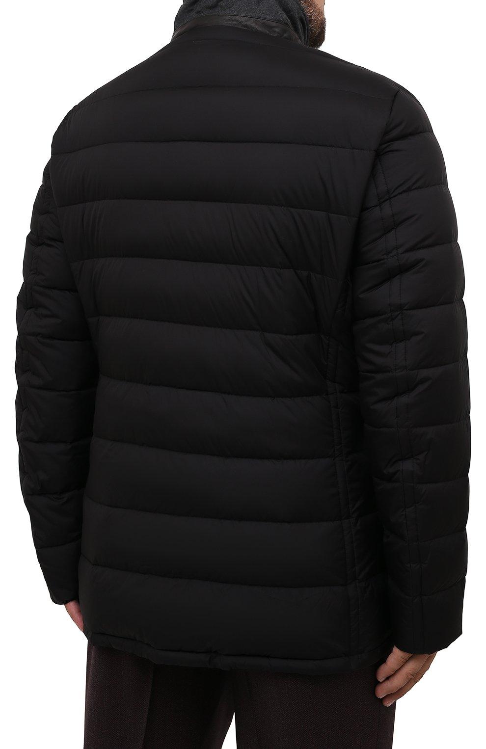 Мужская пуховая куртка zayn-op MOORER черного цвета, арт. ZAYN-0P/M0UGI100307-TEPA017/60-68   Фото 4 (Кросс-КТ: Куртка, Пуховик; Мужское Кросс-КТ: пуховик-короткий; Рукава: Длинные; Материал внешний: Синтетический материал; Стили: Классический; Материал подклада: Синтетический материал)