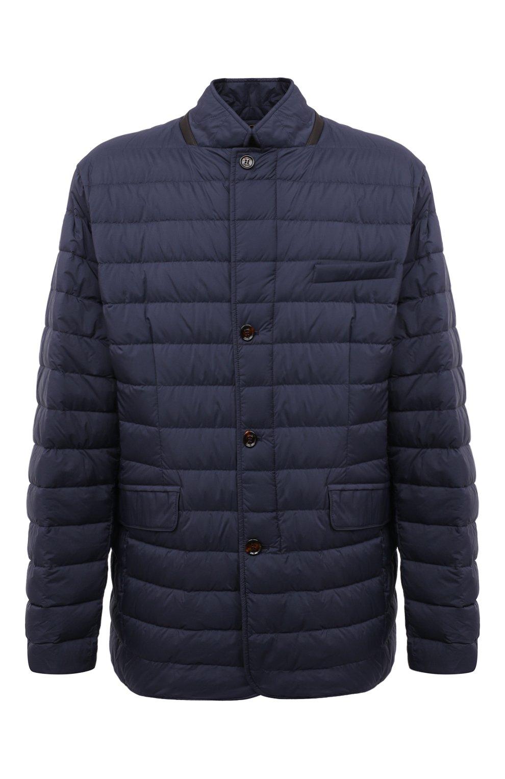 Мужская пуховая куртка zavyer-s3 MOORER синего цвета, арт. ZAVYER-S3/M0UGI100071-TEPA028/60-68   Фото 1 (Кросс-КТ: Куртка, Пуховик; Мужское Кросс-КТ: пуховик-короткий; Рукава: Длинные; Длина (верхняя одежда): До середины бедра; Материал внешний: Синтетический материал; Стили: Классический; Материал подклада: Синтетический материал; Материал утеплителя: Пух и перо)