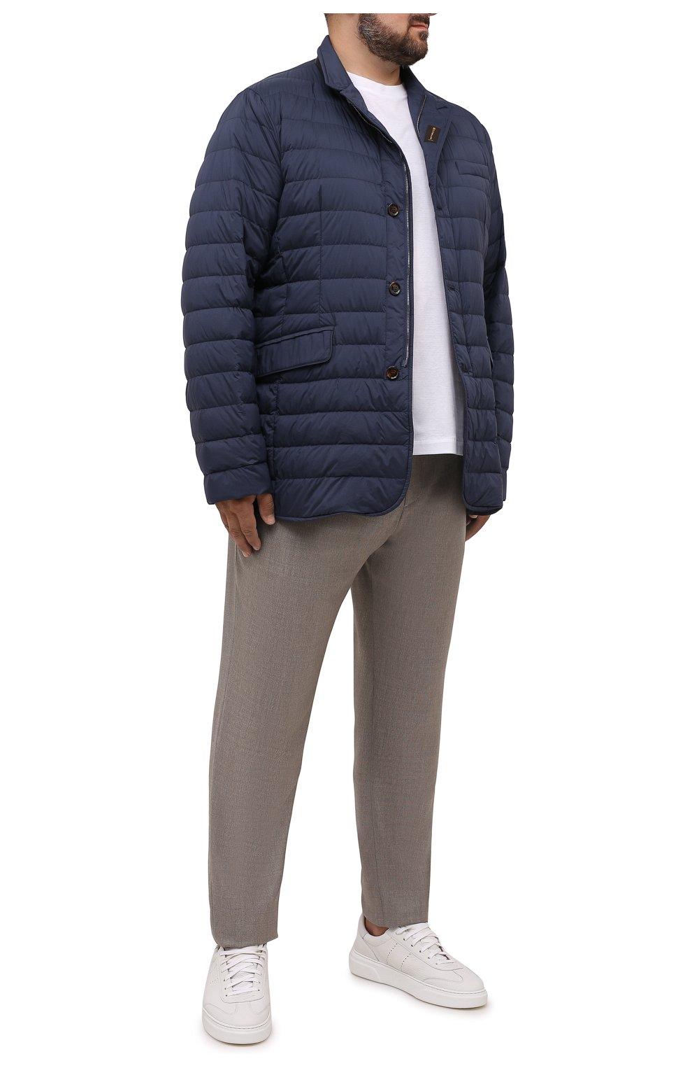 Мужская пуховая куртка zavyer-s3 MOORER синего цвета, арт. ZAVYER-S3/M0UGI100071-TEPA028/60-68   Фото 2 (Кросс-КТ: Куртка, Пуховик; Мужское Кросс-КТ: пуховик-короткий; Рукава: Длинные; Длина (верхняя одежда): До середины бедра; Материал внешний: Синтетический материал; Стили: Классический; Материал подклада: Синтетический материал; Материал утеплителя: Пух и перо)