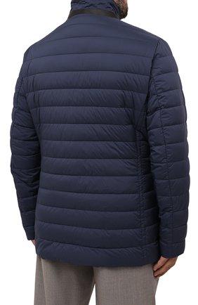 Мужская пуховая куртка zavyer-s3 MOORER синего цвета, арт. ZAVYER-S3/M0UGI100071-TEPA028/60-68   Фото 4 (Кросс-КТ: Куртка, Пуховик; Мужское Кросс-КТ: пуховик-короткий; Рукава: Длинные; Длина (верхняя одежда): До середины бедра; Материал внешний: Синтетический материал; Стили: Классический; Материал подклада: Синтетический материал; Материал утеплителя: Пух и перо)