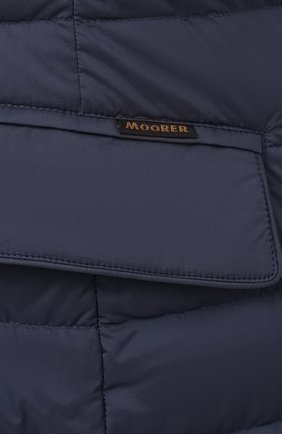 Мужская пуховая куртка zavyer-s3 MOORER синего цвета, арт. ZAVYER-S3/M0UGI100071-TEPA028/60-68   Фото 5 (Кросс-КТ: Куртка, Пуховик; Мужское Кросс-КТ: пуховик-короткий; Рукава: Длинные; Длина (верхняя одежда): До середины бедра; Материал внешний: Синтетический материал; Стили: Классический; Материал подклада: Синтетический материал; Материал утеплителя: Пух и перо)