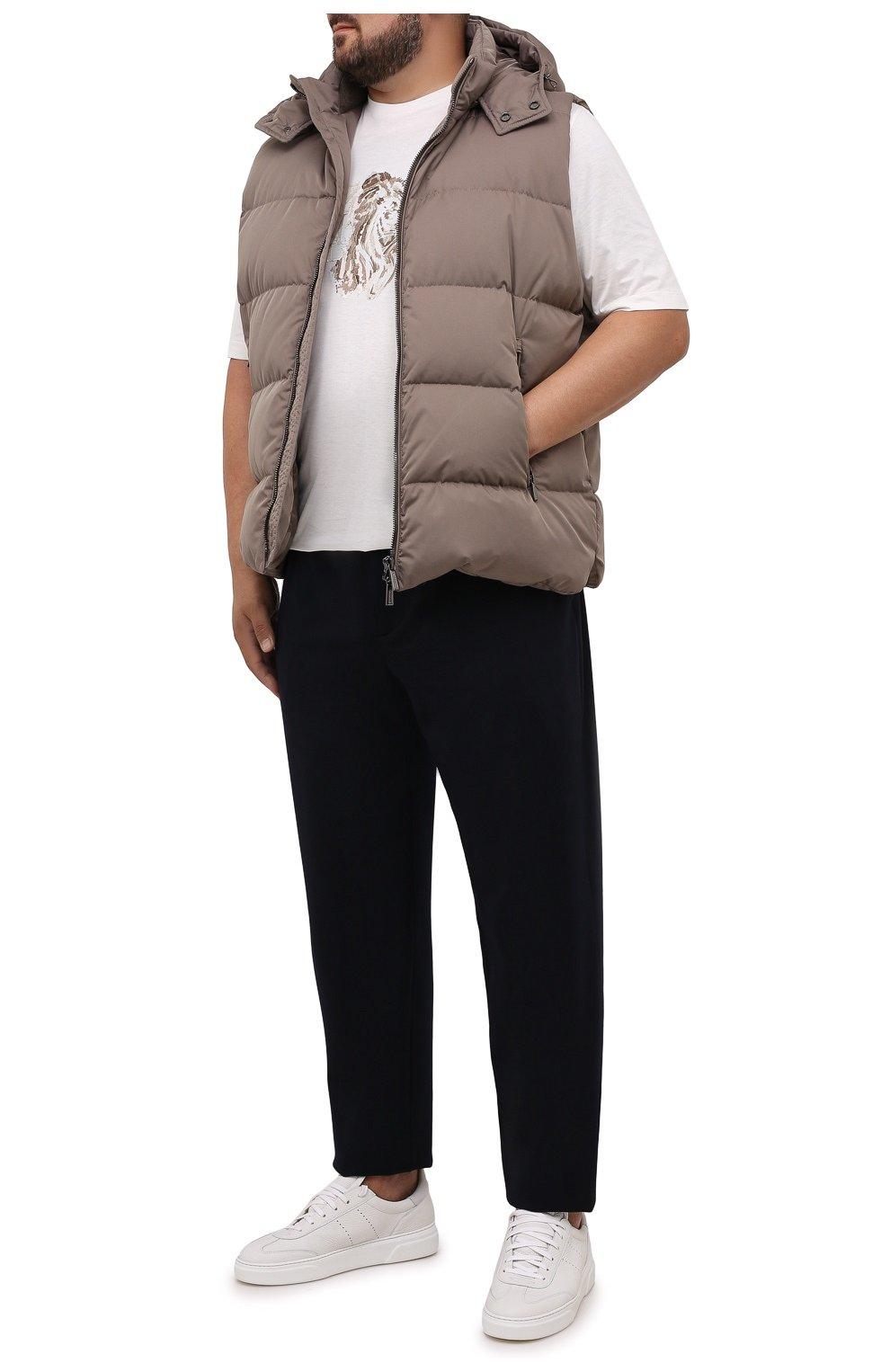Мужской пуховый жилет fayer-wk MOORER серого цвета, арт. FAYER-WK/M0UGI100180-TEPA022/60-68 | Фото 2 (Кросс-КТ: Куртка, Пуховик; Материал внешний: Синтетический материал; Материал подклада: Синтетический материал; Длина (верхняя одежда): Короткие; Стили: Кэжуэл)