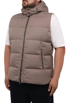 Мужской пуховый жилет fayer-wk MOORER серого цвета, арт. FAYER-WK/M0UGI100180-TEPA022/60-68 | Фото 3 (Кросс-КТ: Куртка, Пуховик; Материал внешний: Синтетический материал; Материал подклада: Синтетический материал; Длина (верхняя одежда): Короткие; Стили: Кэжуэл)