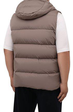 Мужской пуховый жилет fayer-wk MOORER серого цвета, арт. FAYER-WK/M0UGI100180-TEPA022/60-68 | Фото 4 (Кросс-КТ: Куртка, Пуховик; Материал внешний: Синтетический материал; Материал подклада: Синтетический материал; Длина (верхняя одежда): Короткие; Стили: Кэжуэл)