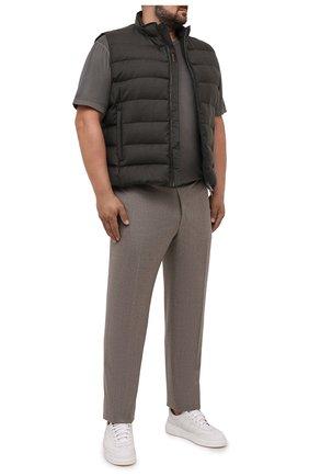 Мужской пуховый жилет oliver-l MOORER коричневого цвета, арт. 0LIVER-L/M0UGL100050-TEPA217/60-68 | Фото 2 (Длина (верхняя одежда): Короткие; Материал подклада: Синтетический материал; Материал внешний: Шерсть; Кросс-КТ: Пуховик, Куртка; Стили: Кэжуэл; Big sizes: Big Sizes)