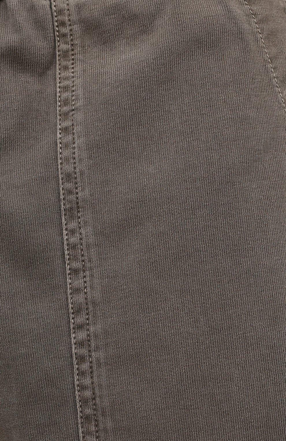 Мужские хлопковые шорты JAMES PERSE хаки цвета, арт. MNW4197 | Фото 5 (Мужское Кросс-КТ: Шорты-одежда; Длина Шорты М: До колена; Принт: Без принта; Материал внешний: Хлопок; Стили: Кэжуэл)