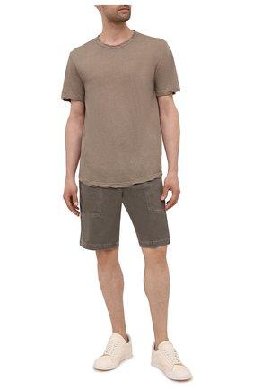 Мужская хлопковая футболка JAMES PERSE коричневого цвета, арт. MKJ3360 | Фото 2