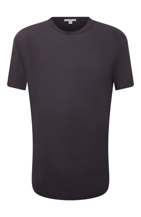 Мужская хлопковая футболка JAMES PERSE серого цвета, арт. MKJ3360 | Фото 1 (Материал внешний: Хлопок; Принт: Без принта; Рукава: Короткие; Стили: Кэжуэл; Длина (для топов): Удлиненные)