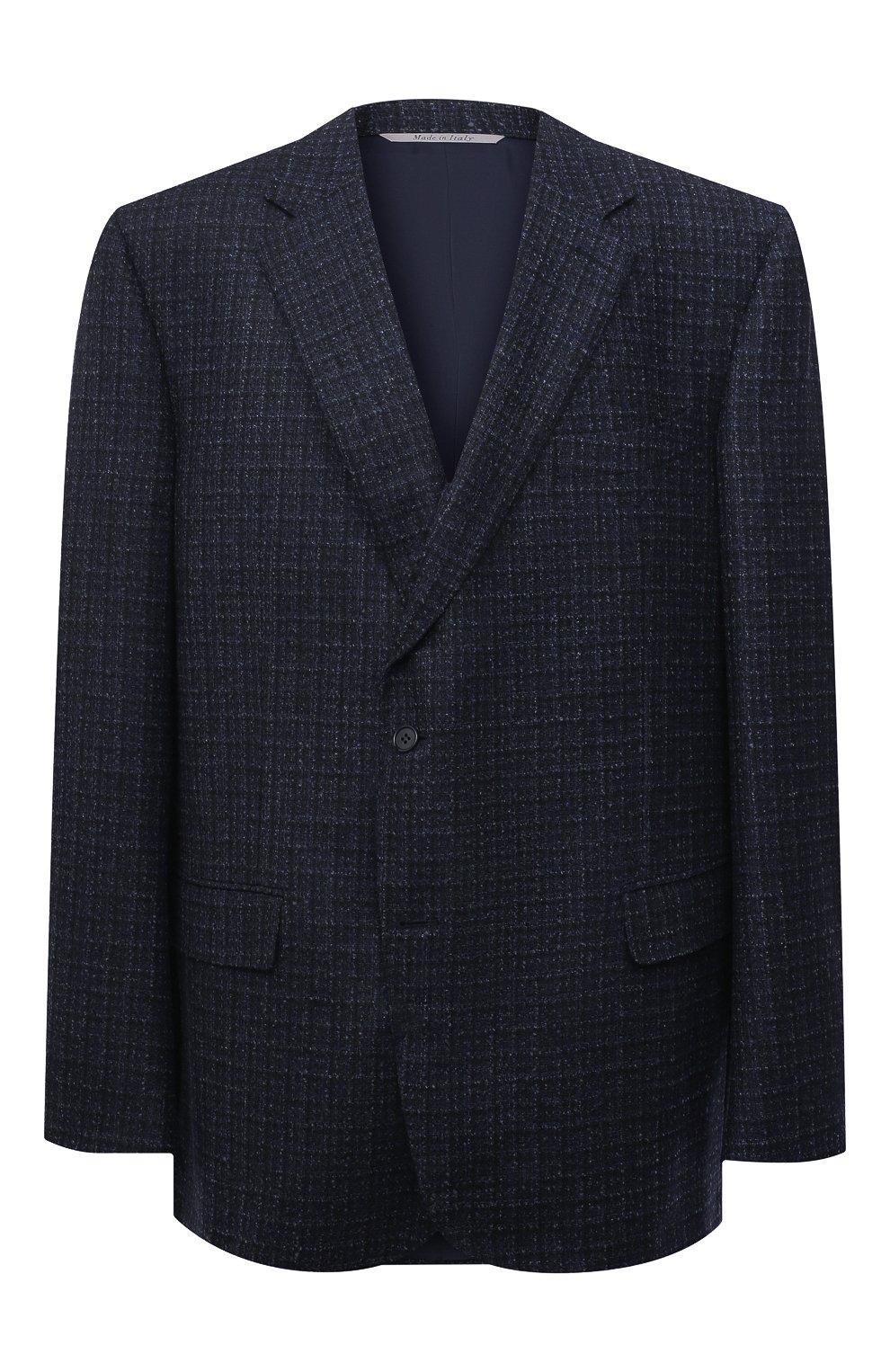 Мужской шерстяной пиджак CANALI темно-синего цвета, арт. 11280/CF01757/60-64   Фото 1