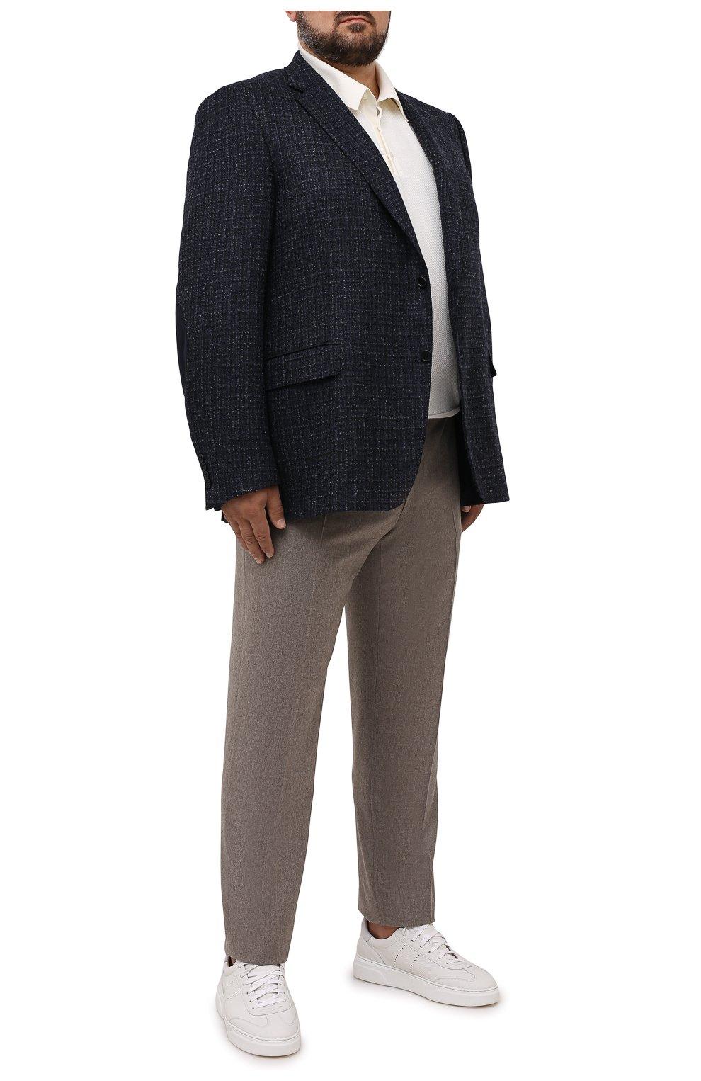 Мужской шерстяной пиджак CANALI темно-синего цвета, арт. 11280/CF01757/60-64   Фото 2