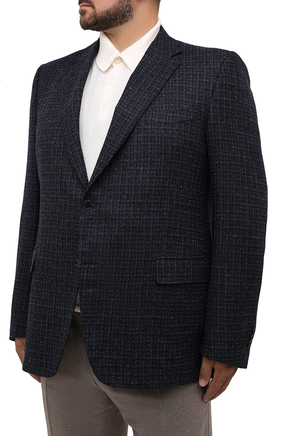 Мужской шерстяной пиджак CANALI темно-синего цвета, арт. 11280/CF01757/60-64   Фото 3