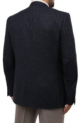 Мужской шерстяной пиджак CANALI темно-синего цвета, арт. 11280/CF01757/60-64   Фото 4