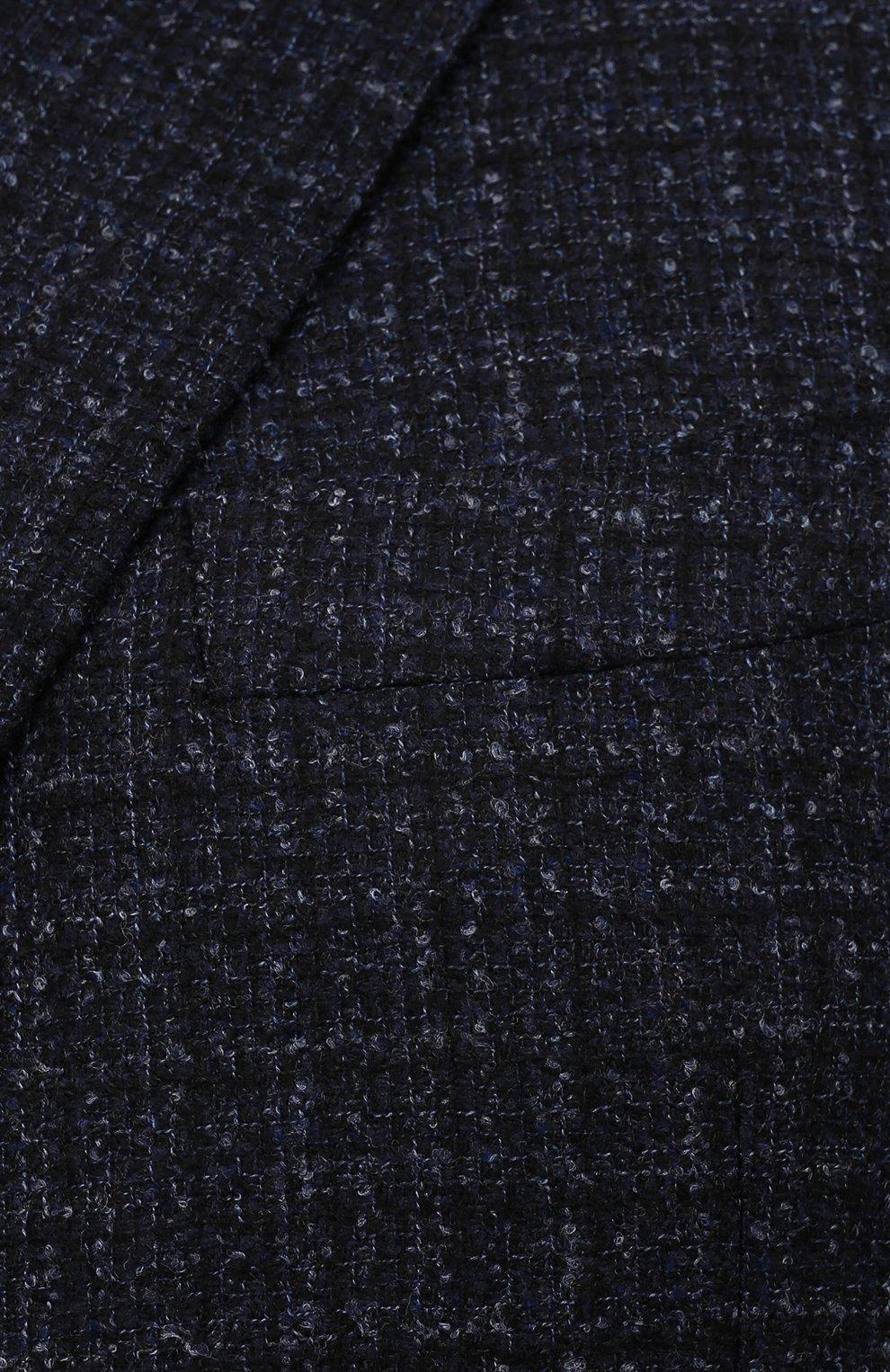 Мужской шерстяной пиджак CANALI темно-синего цвета, арт. 11280/CF01757/60-64   Фото 5