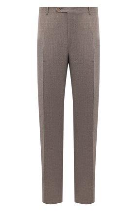 Мужские шерстяные брюки CANALI темно-бежевого цвета, арт. 71012/AN00019/60-64 | Фото 1