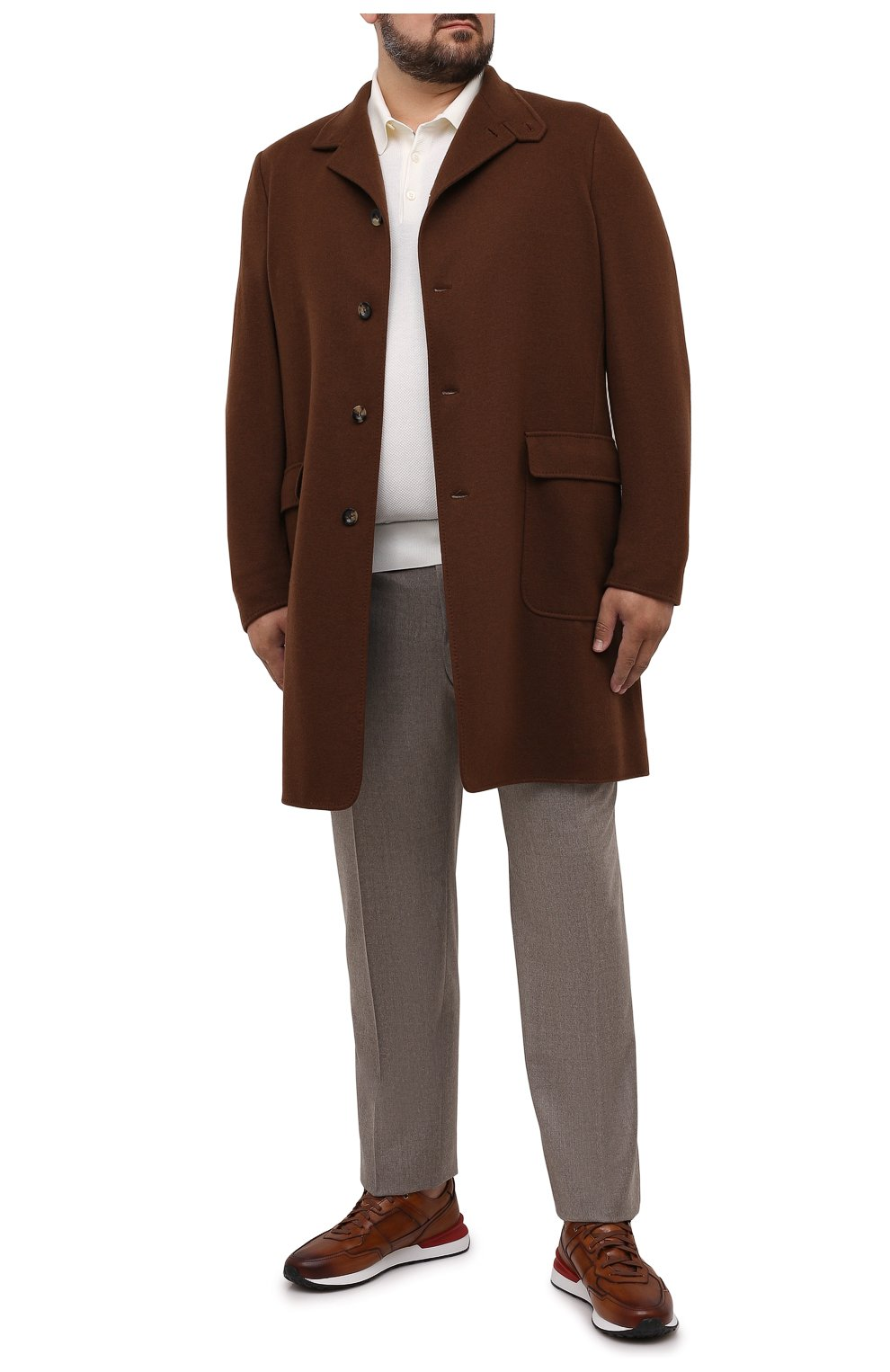 Мужские шерстяные брюки CANALI темно-бежевого цвета, арт. 71012/AN00019/60-64 | Фото 2