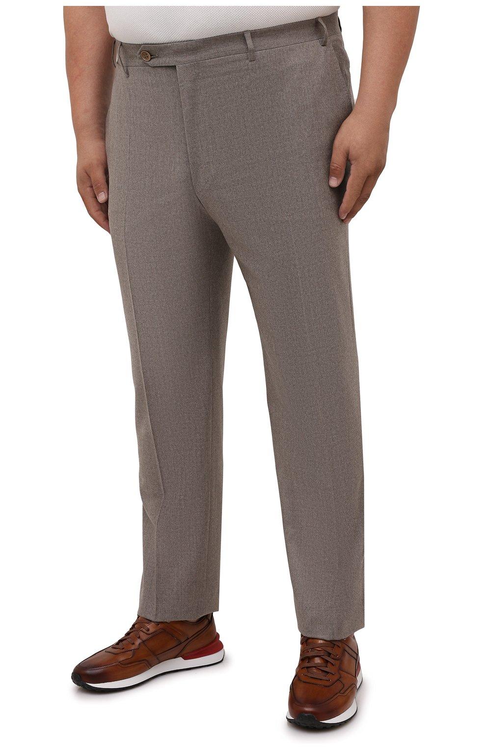 Мужские шерстяные брюки CANALI темно-бежевого цвета, арт. 71012/AN00019/60-64 | Фото 3