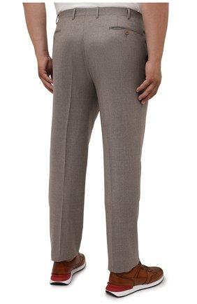 Мужские шерстяные брюки CANALI темно-бежевого цвета, арт. 71012/AN00019/60-64 | Фото 4