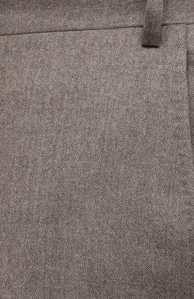 Мужские шерстяные брюки CANALI темно-бежевого цвета, арт. 71012/AN00019/60-64 | Фото 5