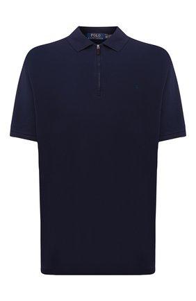 Мужское хлопковое поло POLO RALPH LAUREN темно-синего цвета, арт. 711842622/PRL BS | Фото 1