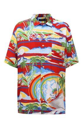 Мужская рубашка из вискозы POLO RALPH LAUREN красного цвета, арт. 711835514/5346/PRL BS | Фото 1