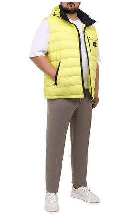 Мужской пуховый жилет PAUL&SHARK желтого цвета, арт. 11312071/IC9/3XL-6XL | Фото 2