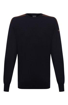 Мужской шерстяной свитер PAUL&SHARK темно-синего цвета, арт. 11311094/FUV/3XL-6XL   Фото 1