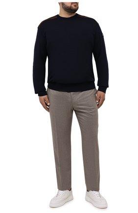 Мужской шерстяной свитер PAUL&SHARK темно-синего цвета, арт. 11311094/FUV/3XL-6XL   Фото 2