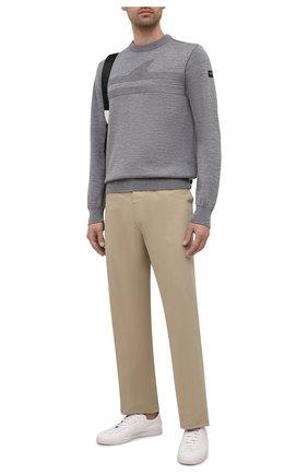 Мужской шерстяной свитер PAUL&SHARK серого цвета, арт. 11311333/FLV   Фото 2