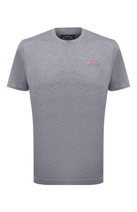 Мужская хлопковая футболка PAUL&SHARK серого цвета, арт. 11311624/C00   Фото 1