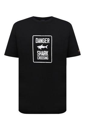 Мужская хлопковая футболка PAUL&SHARK черного цвета, арт. 11311657/C00/3XL-6XL | Фото 1