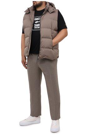 Мужская хлопковая футболка PAUL&SHARK черного цвета, арт. 11311657/C00/3XL-6XL | Фото 2