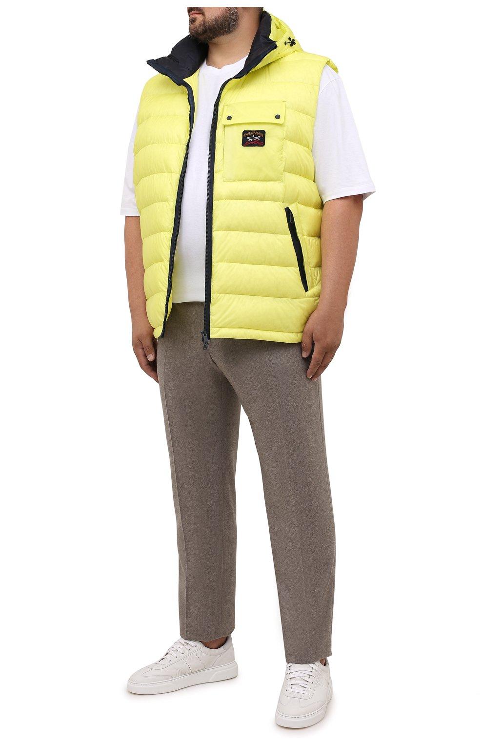 Мужская хлопковая футболка PAUL&SHARK белого цвета, арт. 11311658/C00/3XL-6XL | Фото 2