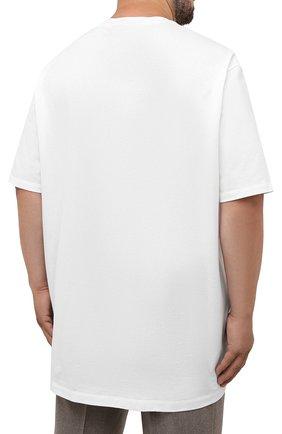 Мужская хлопковая футболка PAUL&SHARK белого цвета, арт. 11311658/C00/3XL-6XL | Фото 4