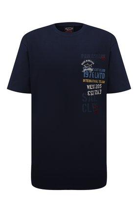 Мужская хлопковая футболка PAUL&SHARK темно-синего цвета, арт. 11311675/C00/3XL-6XL | Фото 1