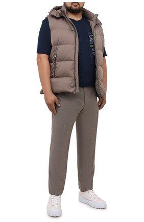 Мужская хлопковая футболка PAUL&SHARK темно-синего цвета, арт. 11311675/C00/3XL-6XL | Фото 2