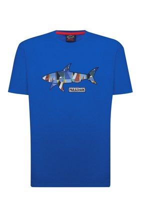 Мужская хлопковая футболка PAUL&SHARK синего цвета, арт. 21411097/C00/3XL-6XL   Фото 1