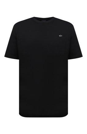 Мужская хлопковая футболка PAUL&SHARK черного цвета, арт. C0P1092/C00/3XL-6XL | Фото 1