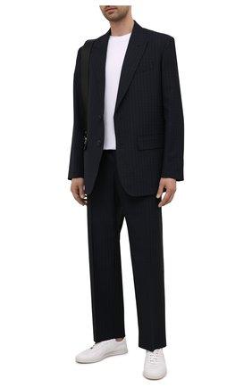 Мужские шерстяные брюки VALENTINO темно-синего цвета, арт. WV3RBG817H6 | Фото 2