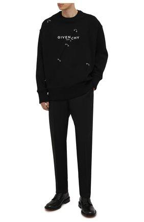 Мужской хлопковый свитшот GIVENCHY черного цвета, арт. BMJ0B83Y69 | Фото 2 (Материал внешний: Хлопок; Стили: Минимализм; Рукава: Длинные; Мужское Кросс-КТ: свитшот-одежда)