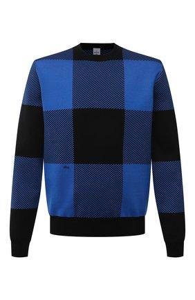 Мужской хлопковый джемпер BERLUTI синего цвета, арт. R20KRL174-001   Фото 1