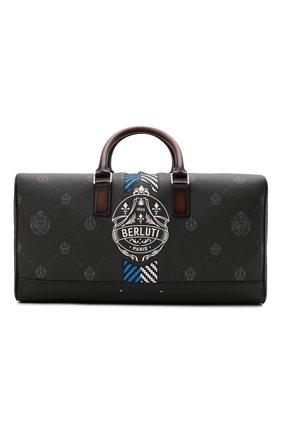 Мужская дорожная сумка BERLUTI черного цвета, арт. M224700 | Фото 1