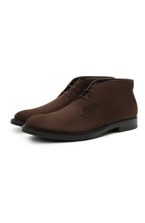 Мужские замшевые ботинки TOD'S темно-коричневого цвета, арт. XXM62C0DH60RE0 | Фото 1