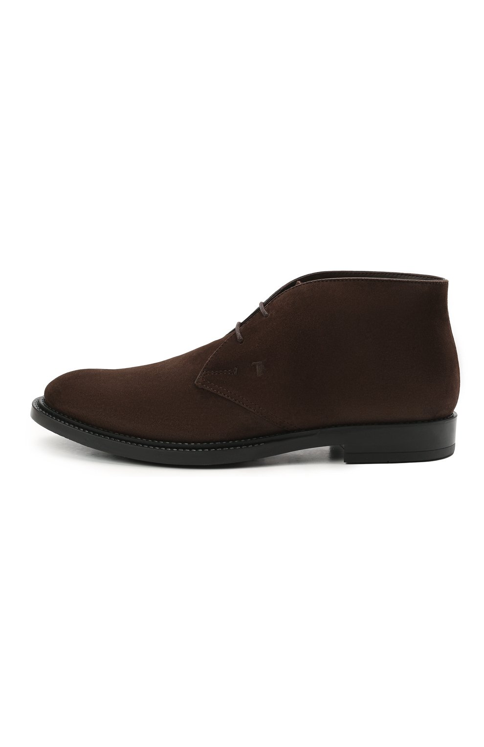 Мужские замшевые ботинки TOD'S темно-коричневого цвета, арт. XXM62C0DH60RE0   Фото 3 (Мужское Кросс-КТ: Ботинки-обувь, Дезерты-обувь; Материал внутренний: Натуральная кожа; Подошва: Плоская; Материал внешний: Замша)