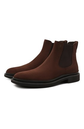 Мужские замшевые челси TOD'S коричневого цвета, арт. XXM89B0CD50HSE | Фото 1 (Подошва: Плоская; Материал внутренний: Натуральная кожа; Материал внешний: Замша; Мужское Кросс-КТ: Сапоги-обувь, Челси-обувь)