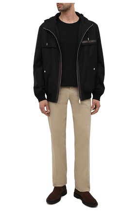 Мужские замшевые челси TOD'S коричневого цвета, арт. XXM89B0CD50HSE | Фото 2 (Подошва: Плоская; Материал внутренний: Натуральная кожа; Материал внешний: Замша; Мужское Кросс-КТ: Сапоги-обувь, Челси-обувь)