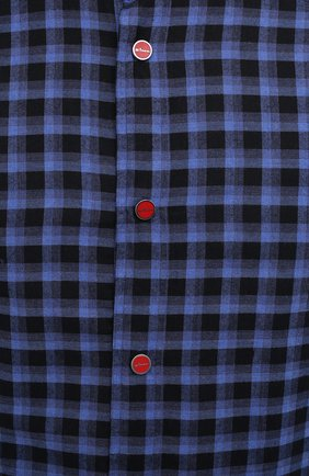 Мужская хлопковая рубашка KITON темно-синего цвета, арт. UMCMARH0785701   Фото 5
