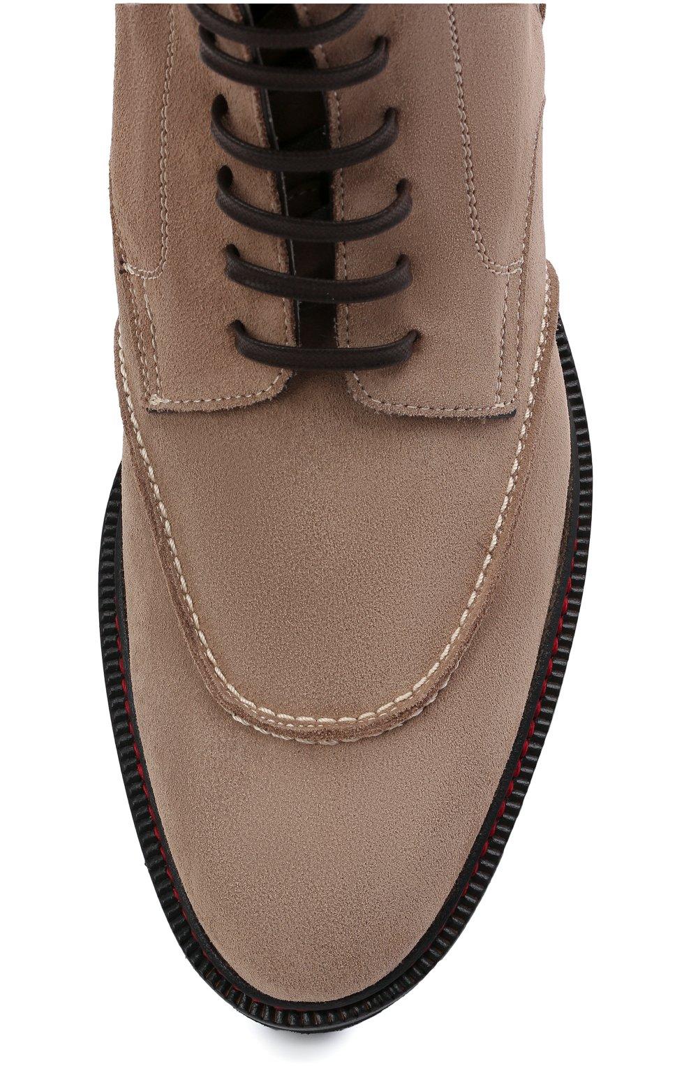 Мужские замшевые ботинки KITON бежевого цвета, арт. USSF0STN00689 | Фото 5