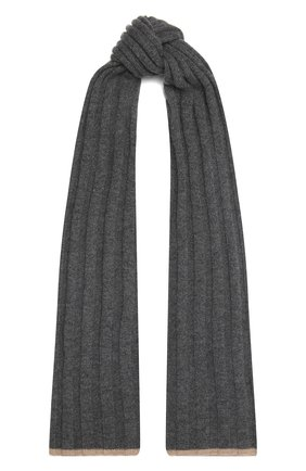 Мужской кашемировый шарф BRUNELLO CUCINELLI серого цвета, арт. M2240819 | Фото 1